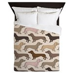 Dacshund Bedding Queen Duvet