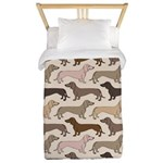Dacshund Bedding Twin Duvet