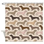 Dacshund Bedding Shower Curtain