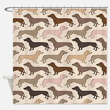 Dacshund Bedding Shower Curtain