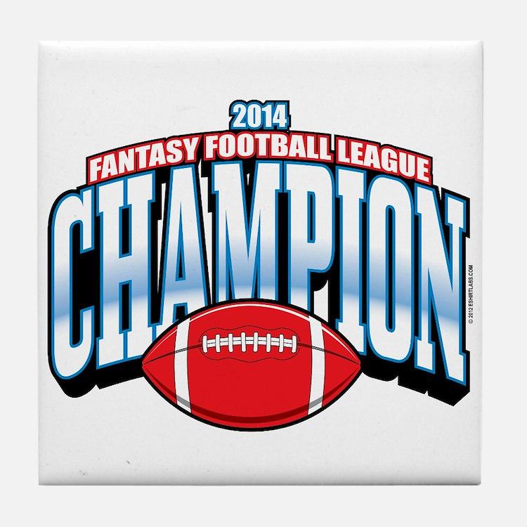 2014 Fantasy Football Champion Tile Coaster