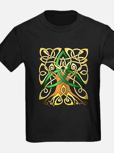 Celtc Art Trinity Tree Green - Unfilled T-Shirt