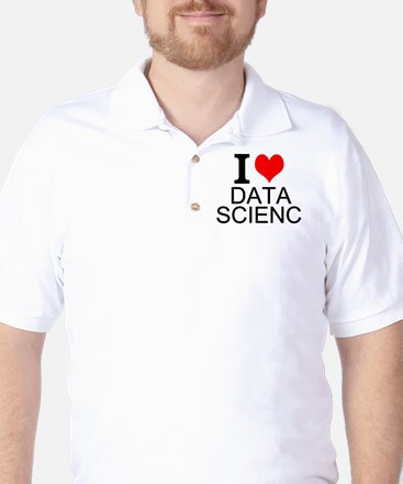 I Love Data Science Golf Shirt