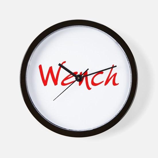 Wench Wall Clock