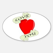 Love You Heart Decal