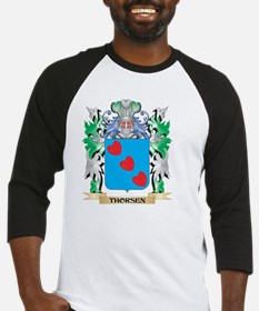 Thorsen Coat of Arms - Family Cres Baseball Jersey