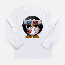 3D Cinema penguin Long Sleeve T-Shirt