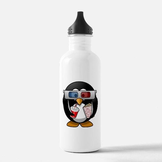 3D Cinema penguin Water Bottle