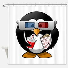 3D Cinema penguin Shower Curtain