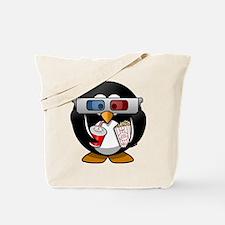 3D Cinema penguin Tote Bag