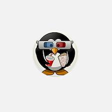 3D Cinema penguin Mini Button