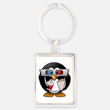 3D Cinema penguin Keychains