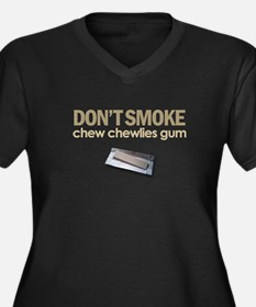 Don't Smoke Women's Plus Size V-Neck Dark T-Shirt