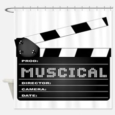 Musical Movie Clapperboard Shower Curtain