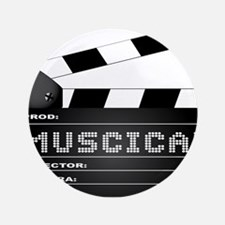"""Musical Movie Clapperboard 3.5"""" Button (100 pack)"""