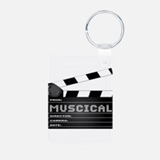 Musical Movie Clapperboard Keychains