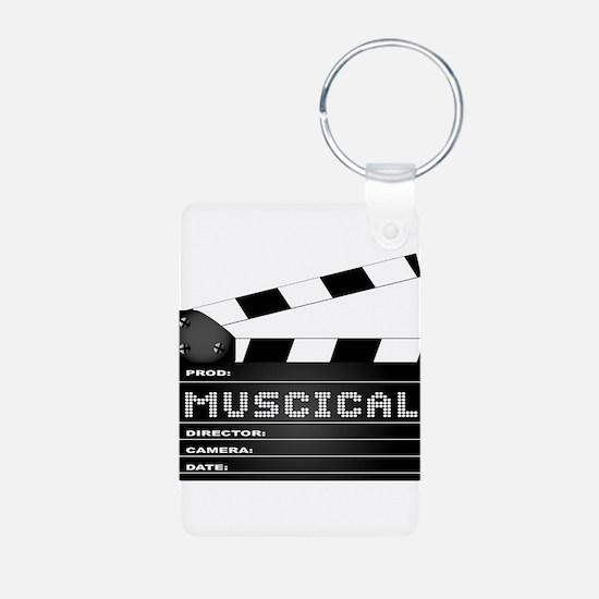 Musical Movie Clapperboard Keychains
