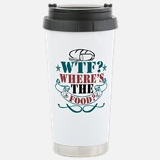 Where's The Food? Stainless Steel Travel Mug