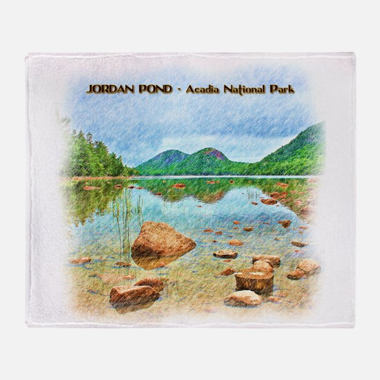 Jordan Pond - Acadia National Park Throw Blanket
