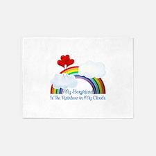 Boyfriend Is The Rainbow 5'x7'Area Rug