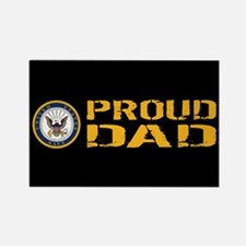 U.S. Navy: Proud Dad (B Rectangle Magnet (10 pack)