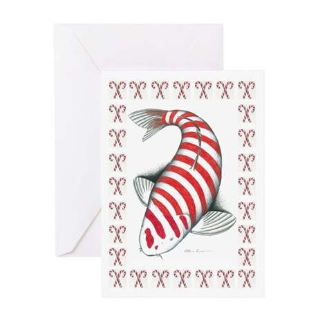 Candy Koi Greeting Card