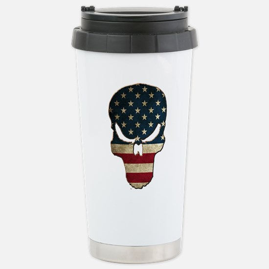 Punishing Skull with Am Stainless Steel Travel Mug