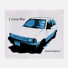 I Love The Ford Festiva Throw Blanket