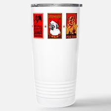 Cute Black pug art Travel Mug