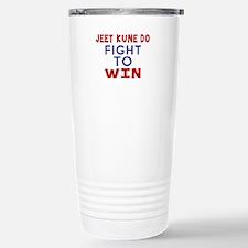 Jeet Kune Do Fight To W Stainless Steel Travel Mug