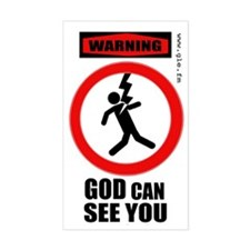 Warning: God Can See You sticker