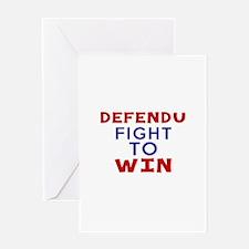 Defendu Fight To Win Greeting Card
