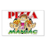 Pizza Maniac @ eShirtLabs.Com Sticker (Rectangular