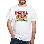 Pizza Maniac @ eShirtLabs.Com White T-Shirt