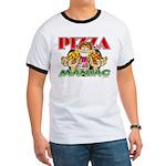 Pizza Maniac @ eShirtLabs.Com Ringer T
