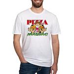 Pizza Maniac @ eShirtLabs.Com Fitted T-Shirt