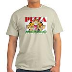 Pizza Maniac @ eShirtLabs.Com Ash Grey T-Shirt