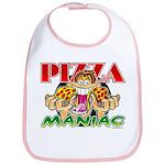 Pizza Maniac @ eShirtLabs.Com Bib