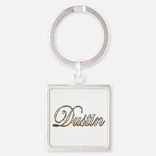 Cute Dustin Square Keychain