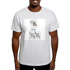 """Baccarat Beats Blackjack"" Ash Grey T-Shirt"