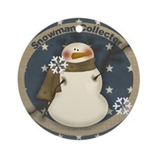 Snowman Collector Ornaments Ornament (Round)