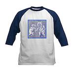 KITTY CATS IN BLUE Kids Baseball Jersey
