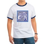KITTY CATS IN BLUE Ringer T