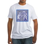 KITTY CATS IN BLUE Fitted T-Shirt