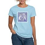 KITTY CATS IN BLUE Women's Light T-Shirt