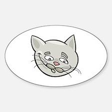 Cute Sad face cat Decal