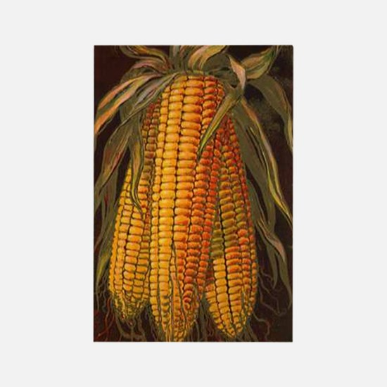 Corn Cobs Rectangle Magnet