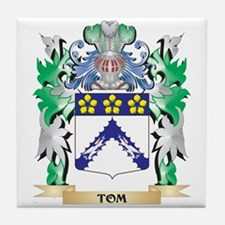 Tom Coat of Arms - Family Crest Tile Coaster