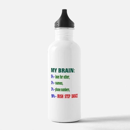 My brain, 90% Irish St Water Bottle