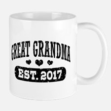 Great Grandma Est. 2017 Small Small Mug